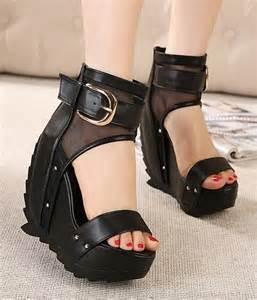 Black Wedge Dress Shoes