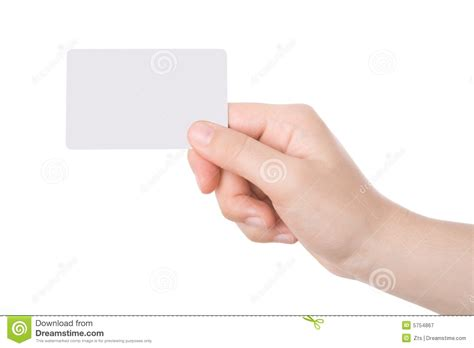 Hand Holding A Business Card Stock Image