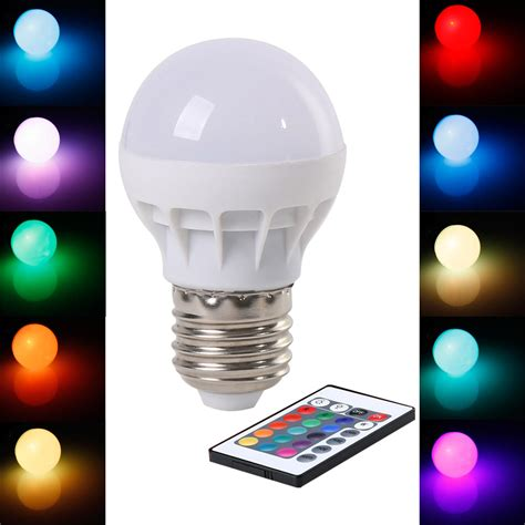 wireless rgb led lights rgb led bulb e27 3w wireless led lights ac85 265v led l