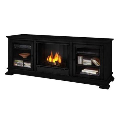 real flame hudson 68 in media console gel fuel fireplace