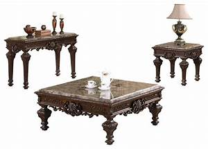 traditional living room table set 3 piece set victorian With victorian coffee table set