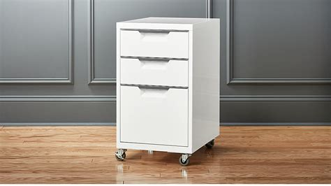 White Cabinet With Drawers by Tps White 3 Drawer Filing Cabinet Cb2