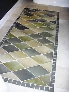 Beautiful bathroom floors from diy network diy for How to paint wood floors diy network