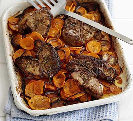 lamb steaks  rosemary sweet potatoes bbc good food