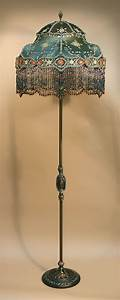 antique floor lamps beaded victorian lamp shades by With floor lamp with tassel fabric shade