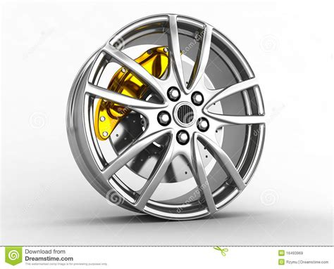 Alloy Wheels For Sports Car Stock Illustration