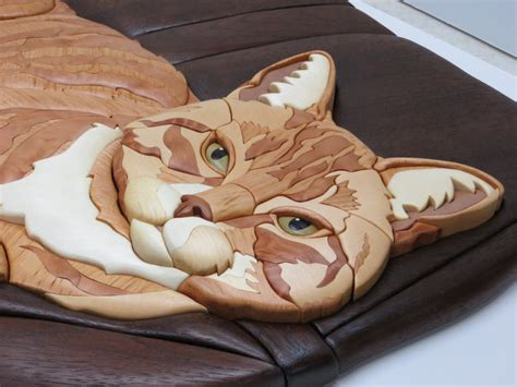 custom intarsia cat stretch  janette  lumberjocks