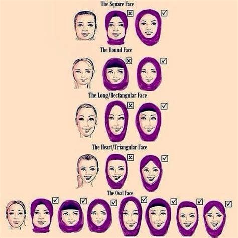 hijab style im  face  shapes