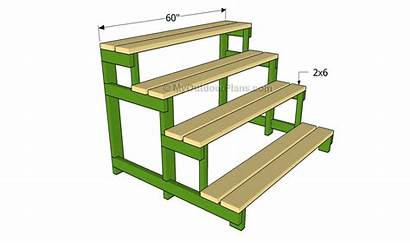 Plant Stand Slats Stands Outdoor Plans Wooden