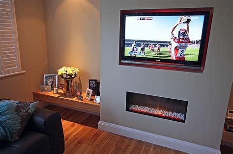 false chimney breast install  lounge    tv