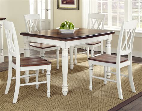 Dining Room Amusing White Country Style Dining Table