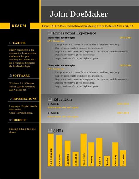 Where Can I Find Free Resume Templates by Free Cv Resume Templates 459 To 465 Get A Free Cv