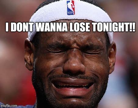 Lebron Crying Meme - lebron james losing a game imgflip