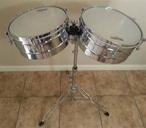 LP Latin Percussion Matador Timbales 14quot 15quot Shells Bright
