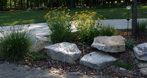 landscape with boulders landscaping boulders rocks our house 300x159 love rocks in the garden church remodel