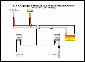 Hid Wiring Diagram With Relay Harness And Electrolytic