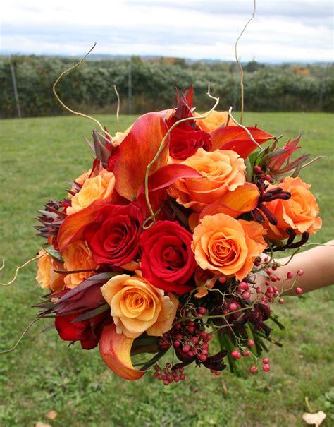 Fall Bridal Bouquet Stadium Flowers