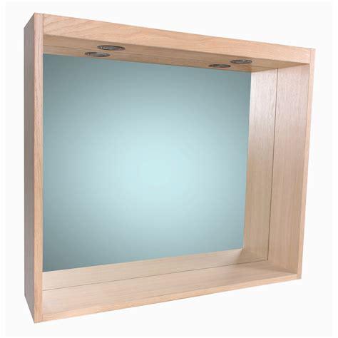 miroir avec 233 clairage int 233 gr 233 l 80 cm sensea leroy merlin
