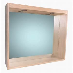 miroir avec eclairage integre l 80 cm sensea storm With glace de salle de bain avec eclairage et tablette