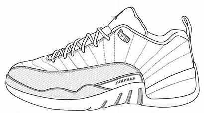 Jordan Drawing Jordans Shoe Air Sketch Basketball