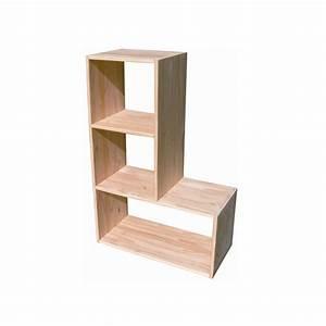 étagère Bois Brut : etag re en bois en l jardin des lutins ~ Teatrodelosmanantiales.com Idées de Décoration