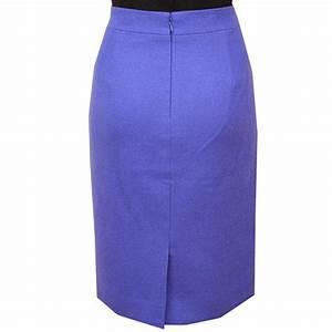 Linen Blend Festival Blue Pencil Skirt u2013 Elizabethu0026#39;s Custom Skirts