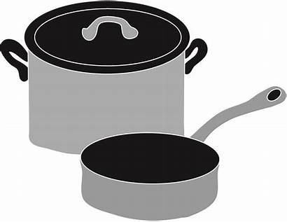 Pots Pans Clipart Cookware Clip Cooking Pan