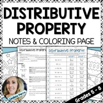 distributive notes property coloring page  integers
