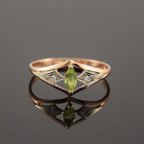 peridot ring deco ring birthstone ring by jewelryasteria