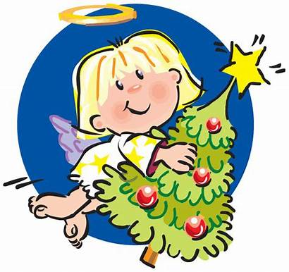 Angel Christmas Tree Clipart Clip Angels Cliparts