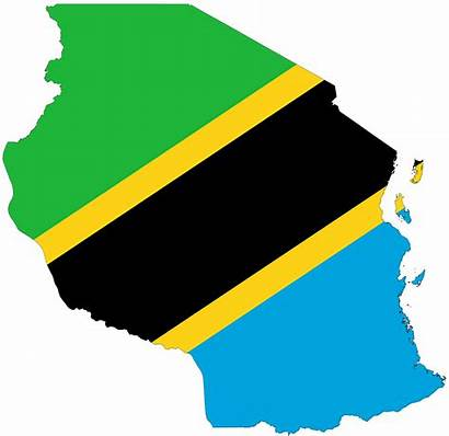 Tanzania Flag Flags African Map