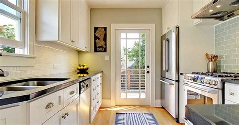 how to make a galley kitchen look larger 4 decorating ideas how to make a galley kitchen look 9786