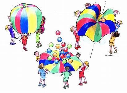 Children Preschool Movement Creative Dance Parachute Games