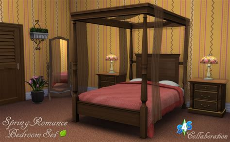 spring romance bedroom  sims  studio liquid sims