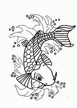 Koi Fish Coloring Pages Japanese Nishikigoi Printable Popular Getcolorings Coloringhome sketch template