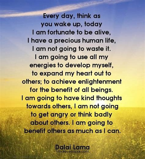 every day think as you up today i am fortunate to