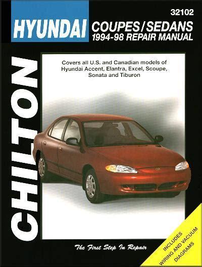 chilton car manuals free download 1992 hyundai scoupe windshield wipe control hyundai coupes sedans 1994 1998 chilton owners service repair manual 0801989531