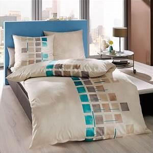 Moderne Bettwäsche 155x220 : kaeppel biber bettw sche 155x220 cm design 54356 cube creme grau kariert modern ebay ~ Markanthonyermac.com Haus und Dekorationen