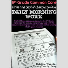 Math And English Language Arts Daily Morning Work  Young Teacher Love