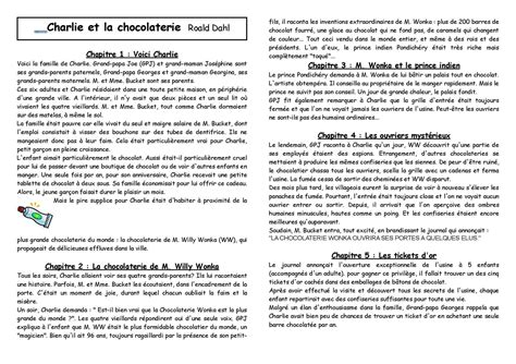Les Resume by Calam 233 O Cycle 3 Litt 233 Rature Et La Chocolaterie R 233 Sum 233