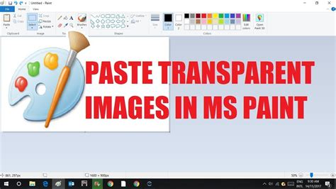 paste transparent images in microsoft paint ms paint