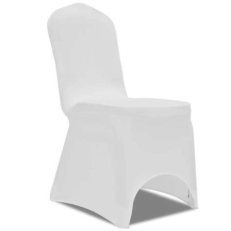 housse de chaise blanche la boutique en ligne housse blanche extensible pour chaise