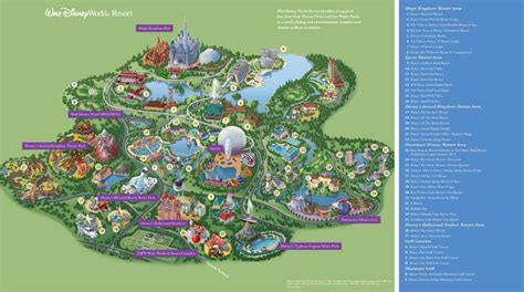 walt disney world maps parks  resorts disney epcot