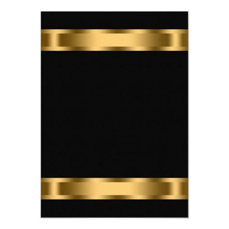 Personalized Invitations Black Gold Black Corporate
