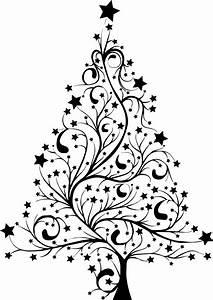 Christmas Tree Black And White Images Christmas Lights