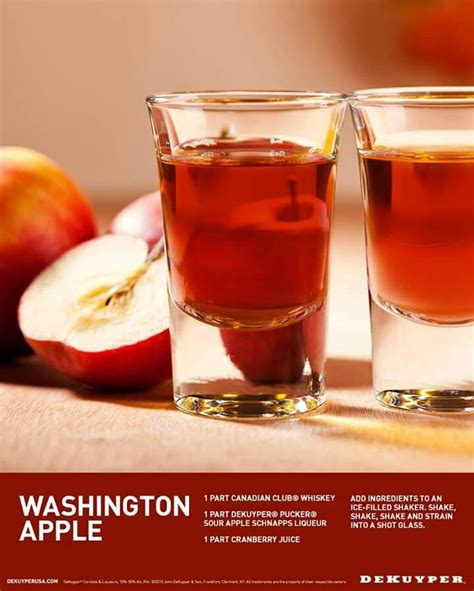 apple washington shot recipe drink recipes canadian jello whiskey crown royal shots club alcohol ingredients drinks sour cocktails shake alcoholic