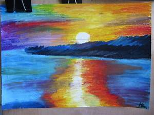 Sunset drawing with oil pastels by miki4212 on DeviantArt