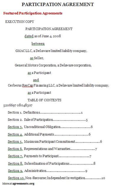Participation Waiver Template by Sle Bylaws Template 8 Free Documents In Pdf Bylaws