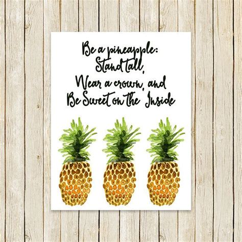 be a pineapple kitchen print quot be a pineapple stand wear