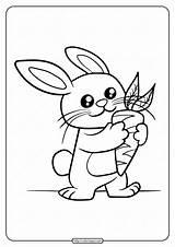 Coloring Rabbit Printable Carrot Eat Pdf Tweet Whatsapp Email sketch template